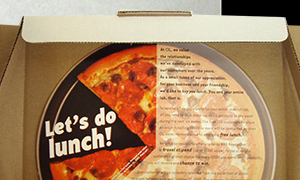 Promotional pizza lunch